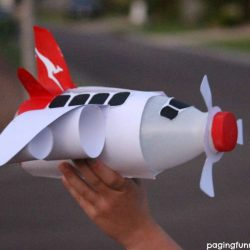 Plastic Bottle Airplane with Free Printables