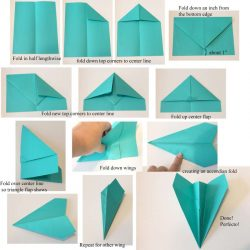 Paper Airplane Step By