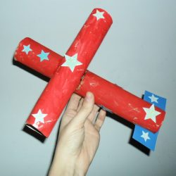 Paper Tube Airplane Craft