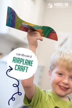 Simple Cardboard Airplane Craft for Kids