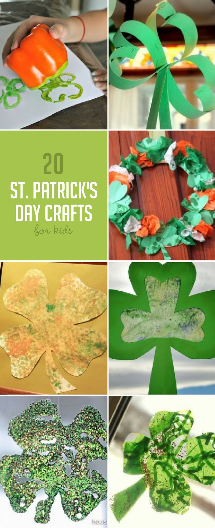 20 lucky shamrock crafts are the perfect way to celebrate St. Patrick's Day!