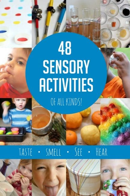 48 sensory activities that explore taste, sight, smell, and sound