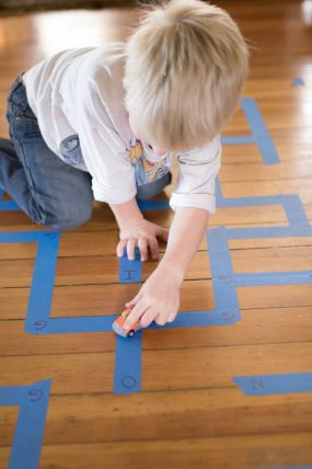 A-MAZE-ing Way to Learn a Letter