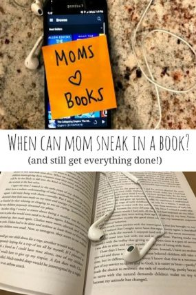 Simple times when mom can enjoy a good book too!
