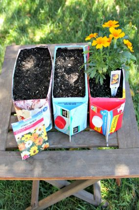 Flower carton garden for kids
