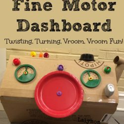 Fine Motor Dashboard for Pretend Play