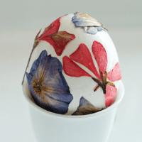 Pressed Flower Eggs