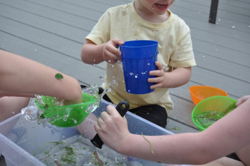 Nature Sensory Soup is a fun way to explore nature!