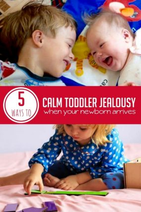 These are some great ideas so calm toddler jealousy that is bound to happen when you bring a newborn home.