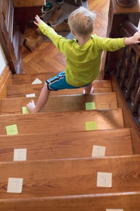 A Letter Hunt on The Stairs