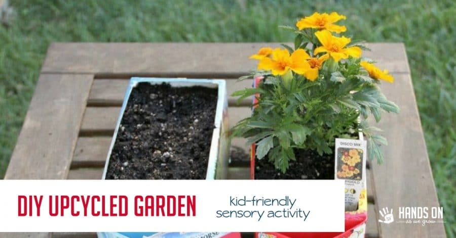 fun flower garden for kids with upcycled cartons hands on as we grow. Black Bedroom Furniture Sets. Home Design Ideas