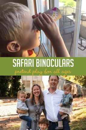 This safari binoculars craft would be so fun for pretend play.