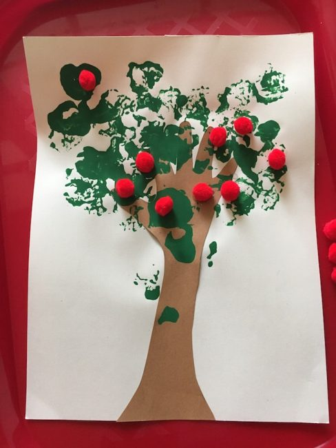 Handprint Apple Tree craft is a fun way to welcome fall!