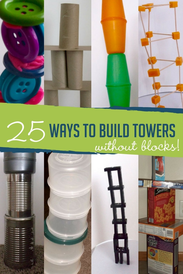 25 Ways to Build Towers Without Blocks | Hands On As We Grow