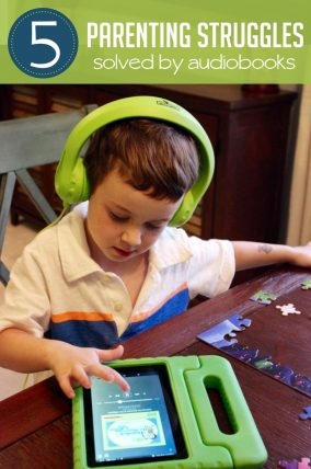 Who knew audiobooks for preschoolers could be such a useful parenting tool?