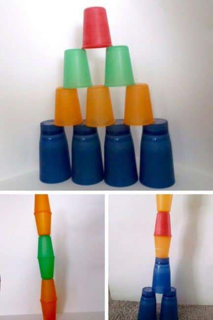 Tower building without blocks - use cups!