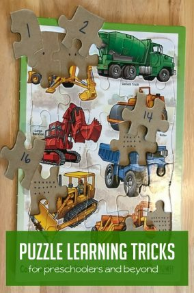 These puzzle learning tricks for preschoolers will be great for quite time!