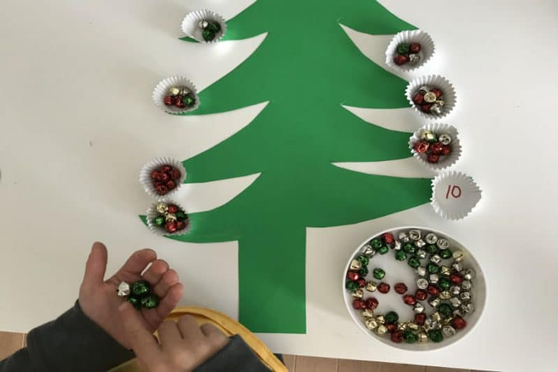 fine motor christmas tree transfer activity number recognition