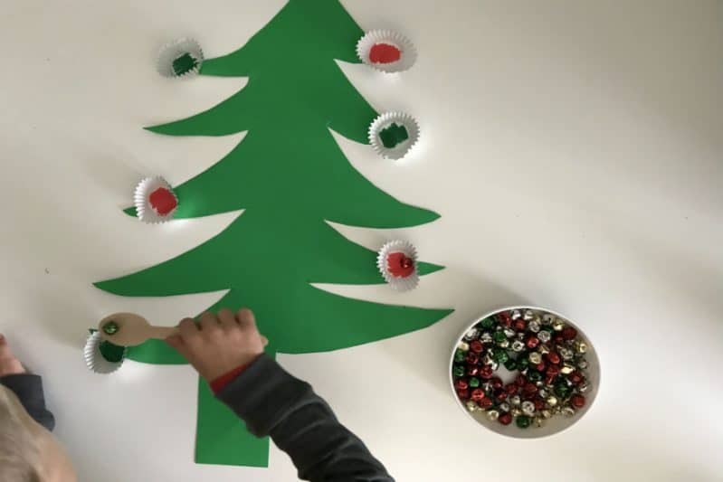 fine motor christmas tree activity color recognition