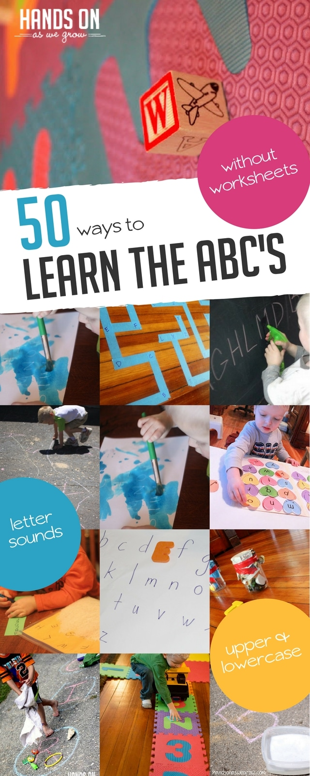50 Alphabet Activities For Preschoolers To Learn Letter Sounds Upper And Lowercase Letters Recognizing