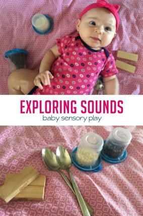 Sensory play is such an important part of baby play, and this activity from Julie is a perfect way to explore sound with your little one!