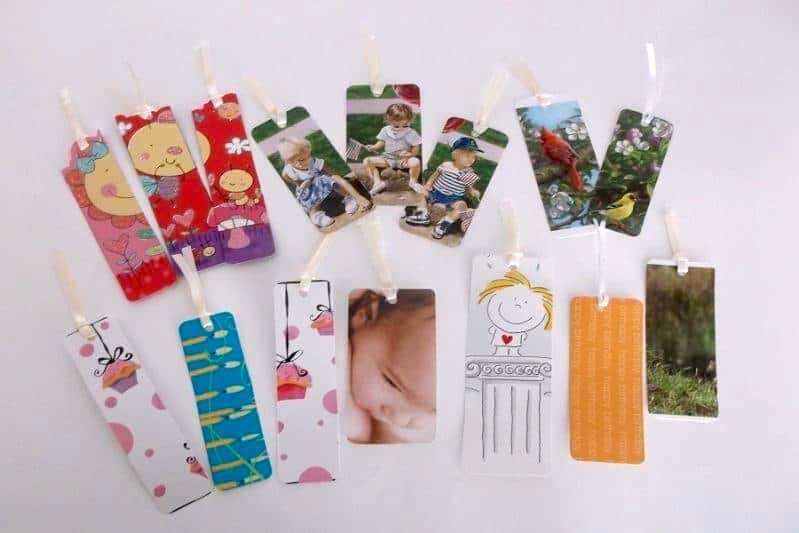 turn cards into bookmarks an easy gift kids can make