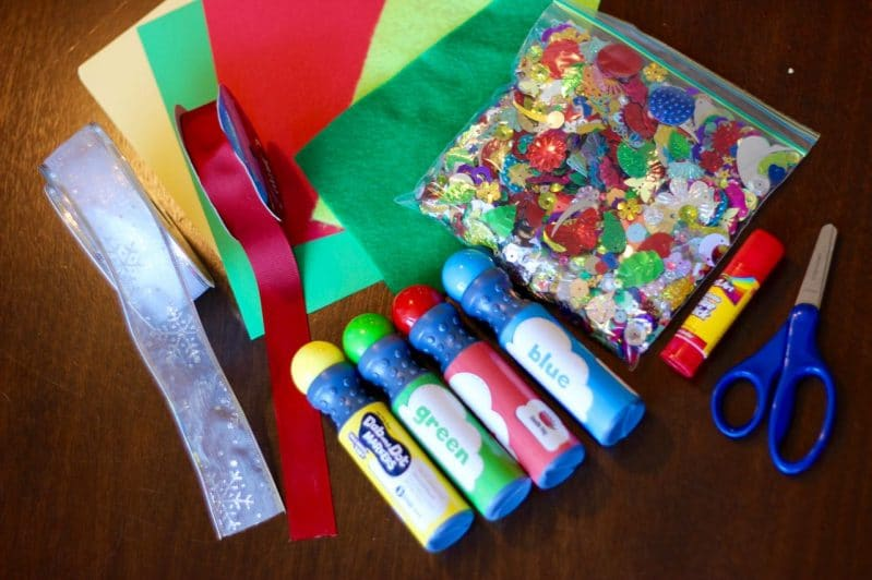 Decorate for Christmas with an easy tabletop tree activity perfect for preschoolers.
