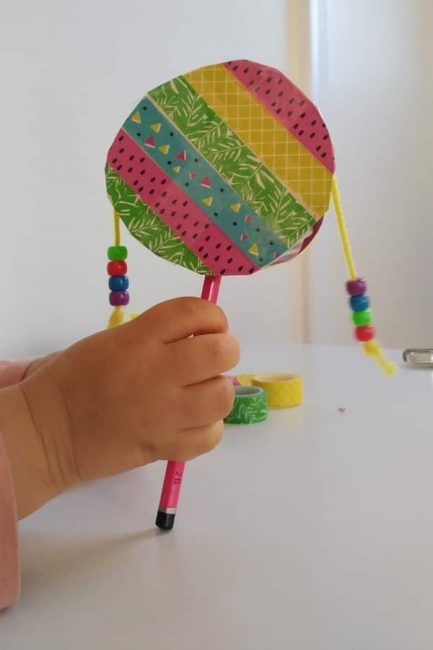 Your DIY hand drum will make for fun musical play