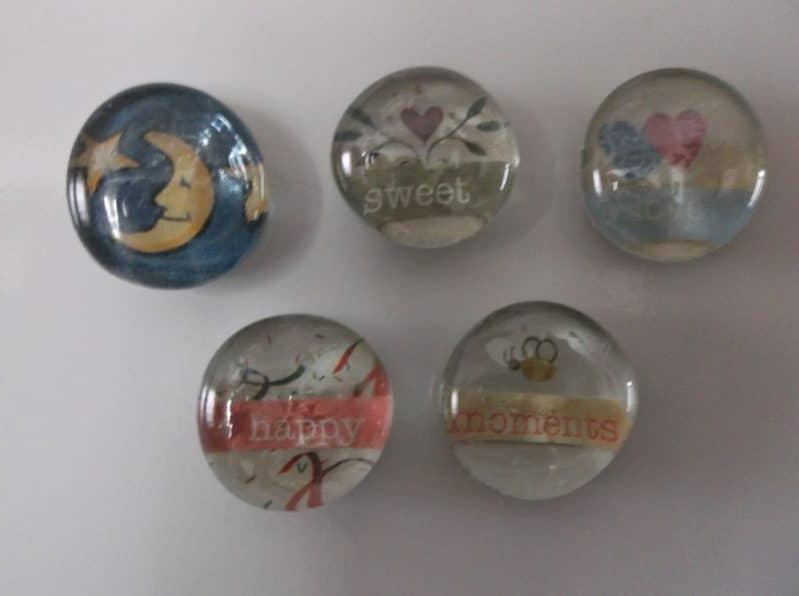 Decorative magnets will brighten up a fridge or locker!