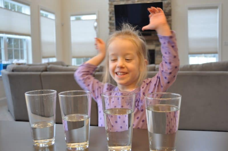 Make music with water in this classic kid-friendly science experiment