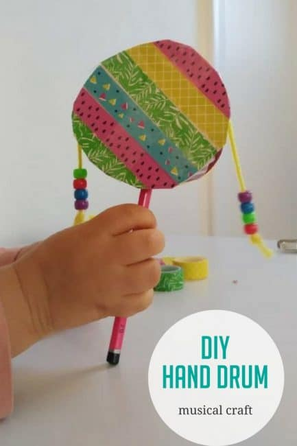 Diy Hand Drum Craft For Kids Hands On As We Grow