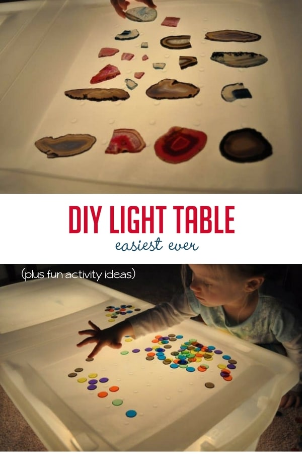 how to make the easiest diy light table activities hands on as we grow. Black Bedroom Furniture Sets. Home Design Ideas