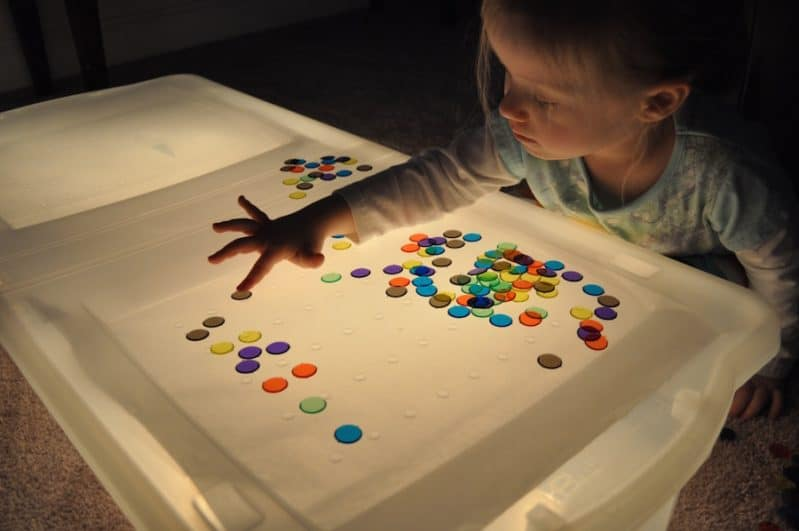 How To Make The Easiest Diy Light Table Activities