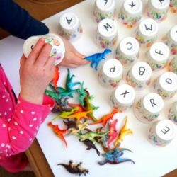Dinosaur Alphabet Matching Activity- Pre-K Pages
