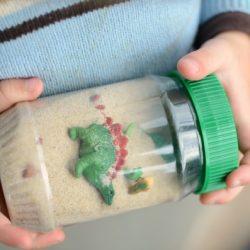 Dinosaur Sensory Bottle- Simple Play Ideas
