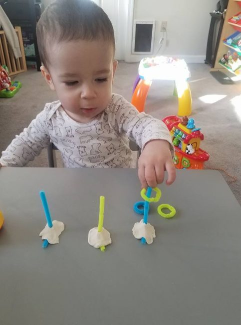 March MOTM activity baby ring stacking activity