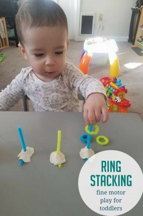 Activities for 18 month olds easy pipe cleaner ring stacking activity with a twist negle Gallery