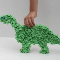 Tissue Paper Dinosaur- Mom Unleashed