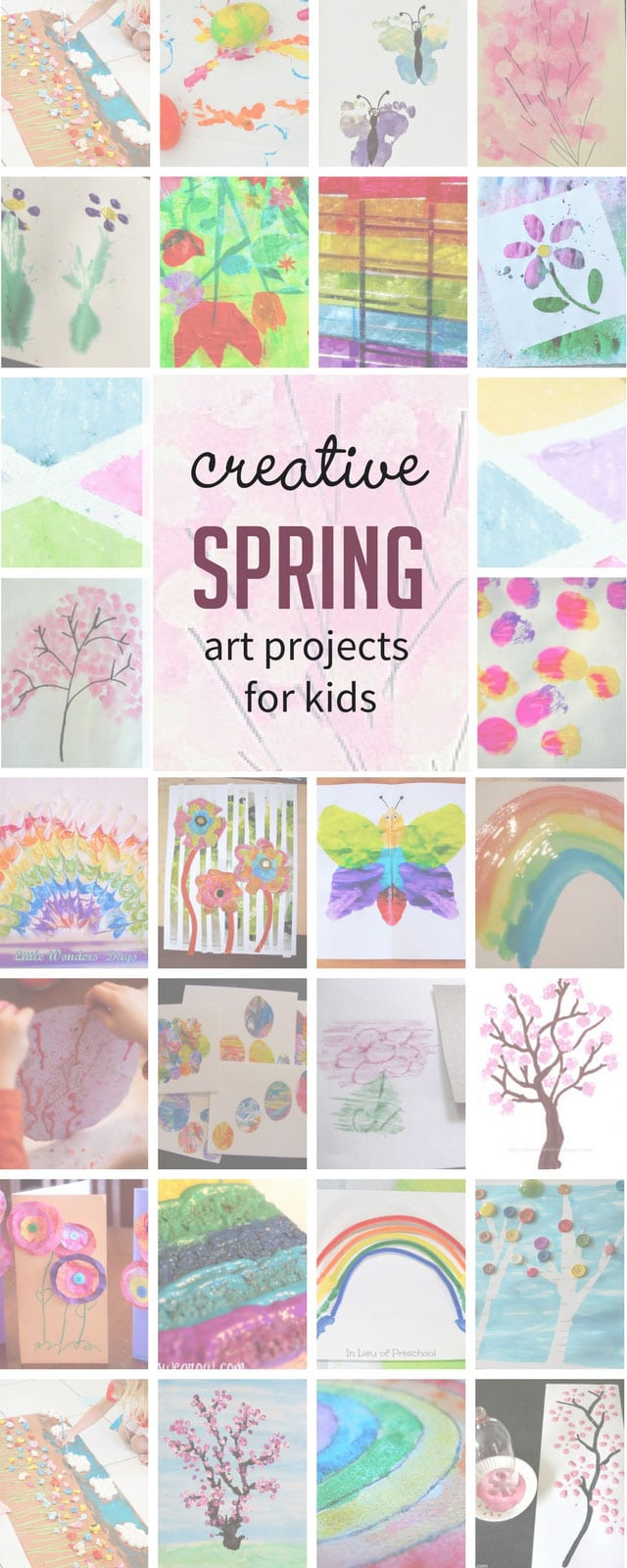 Celebrate spring with 27 spring art projects for kids! These are perfect for children of all ages!