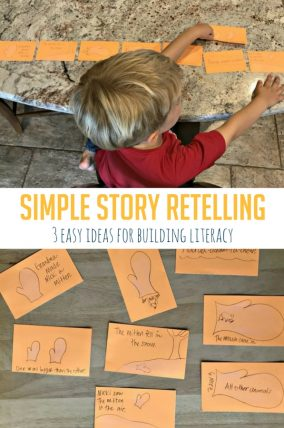 These three easy story retelling ideas help to build literacy skills in all ages!