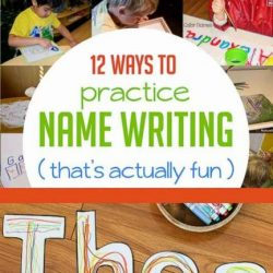 Hands On As We Grow- 12 Name Writing Activities