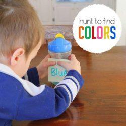 Hands On As We Grow- Preschool Colors scavenger hunt
