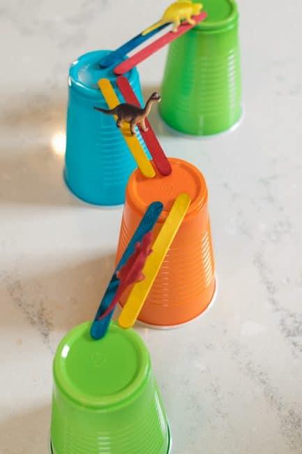 Craft Stick Bridge Building Activity For Preschoolers Hoawg