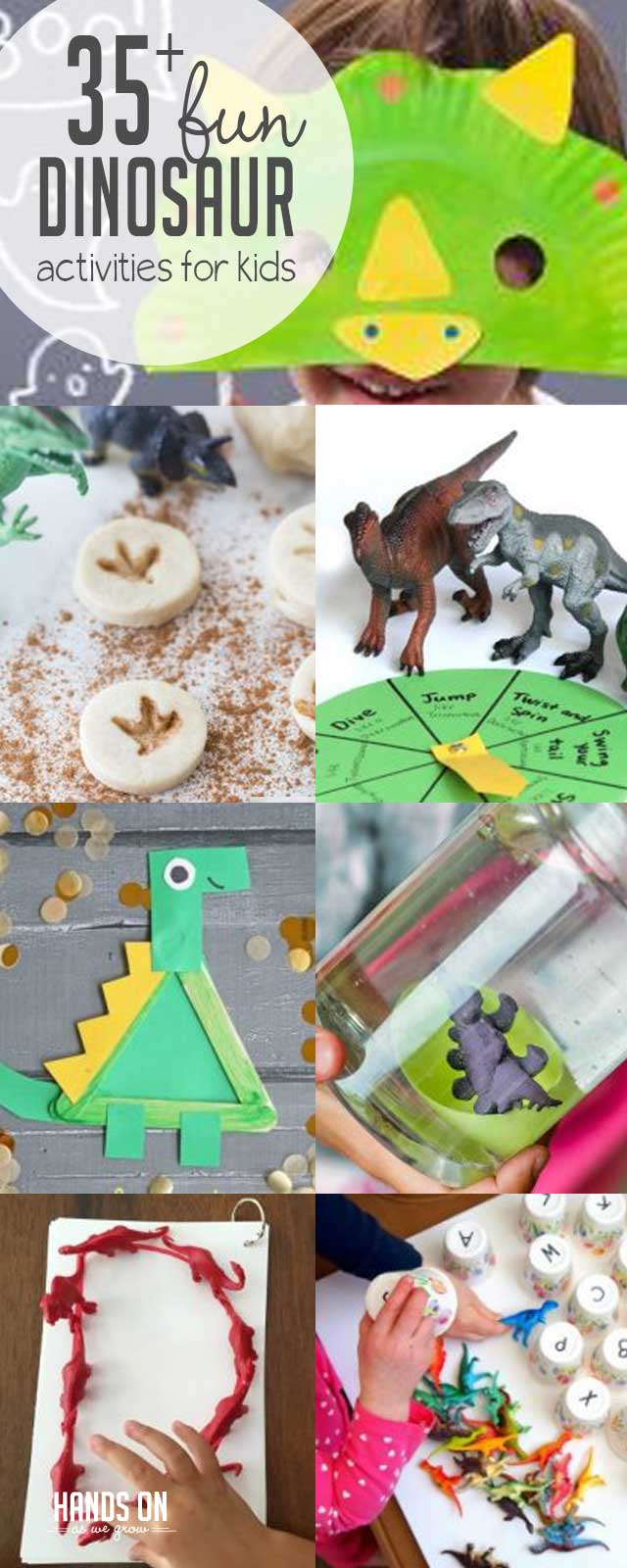 Fun dinosaur activities for kids will make learning together fun! Use our guide to find great dinosaur books, cute sensory activities, and yummy dino snacks. These 35+ dinosaur activity ideas for kids are easy to follow!