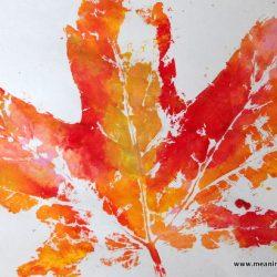 Painted Leaf Print- Meaningful Mama
