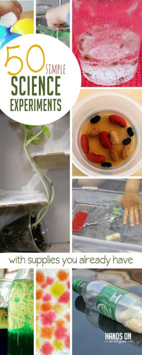 50 Simple Science Experiments with Supplies You Already Have