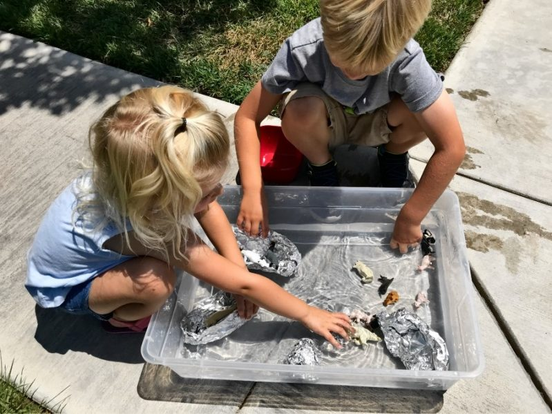 Turn your book based science experiment into fun sensory play!
