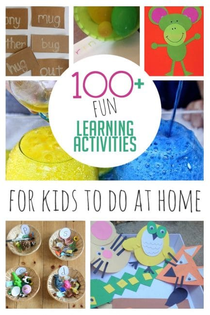 100 Fun Learning Activities For Kids To Do At Home Hoawg