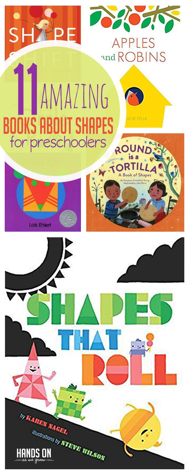 Eleven super awesome books about shapes that are perfect for preschoolers! Which one will you read first?