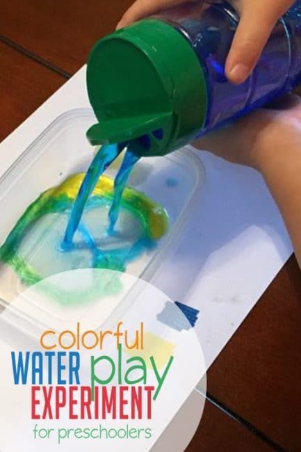 colorful water play experiment for preschoolers hands on as we grow